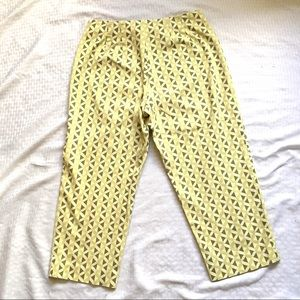 Talbots Pants - Talbots Green White Stretch Cotton Capri Pants Sz4